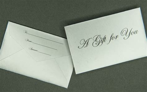 Gift Card Envelope - mini gift card envelope a gift for you silver archives bank cards dvds rfid