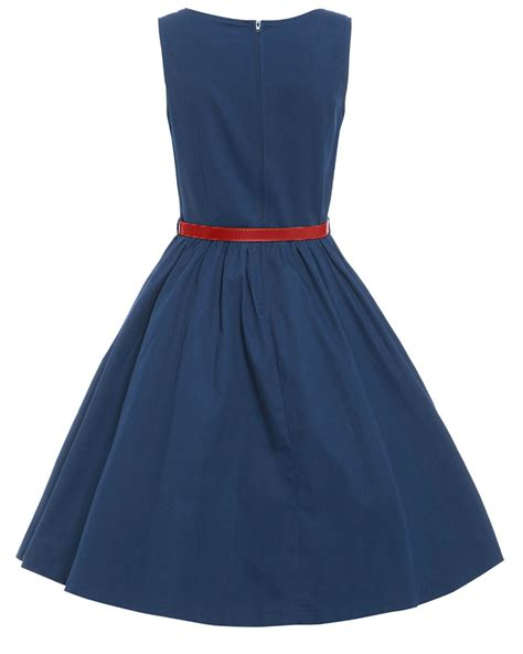 navy swing dress audrey navy swing dress vintage inspired fashion