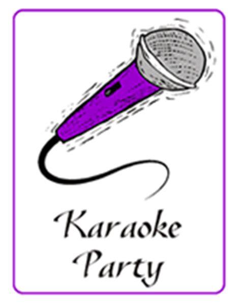 printable karaoke invitations karaoke party printable invitations