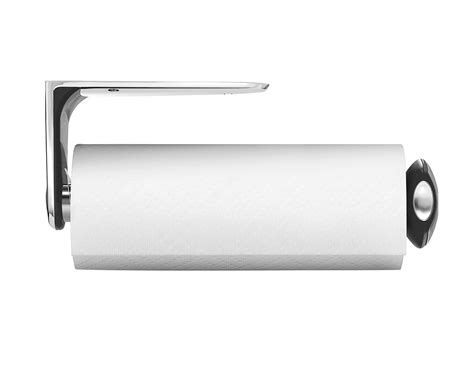 cabinet mount paper towel holder simplehuman long wall mount kitchen roll holder