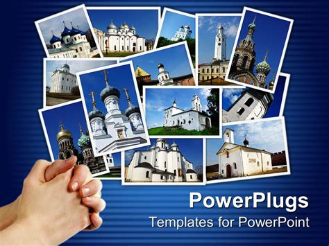 Powerpoint Template Collage Of Ancient Orthodox Churches Powerpoint Photo Collage Template