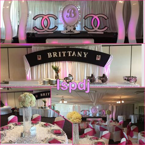 sweet sixteen theme on pinterest 41 pins chanel stage for sweet 16 quince wedding quince