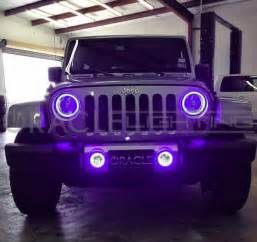 Jeep Halos 2007 2017 Jeep Wrangler Jk Oracle Led Headlight Fog Light