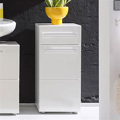 High Gloss Bathroom Storage Bora Storage Cabinet In White With High Gloss Fronts