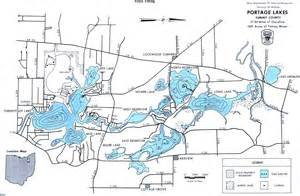 Ohio Lakes Map by The Portage Lakes Map From Gofishohio Com Your Premier