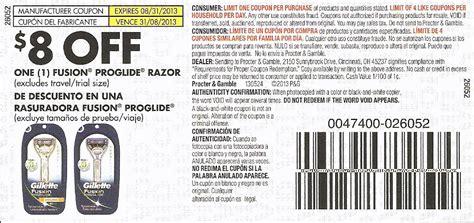 fusion coupon code gillette razor coupon print coupon king