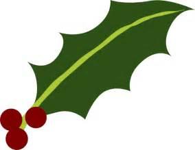 Holly leaf 3 berries clip art at clker com vector clip art online