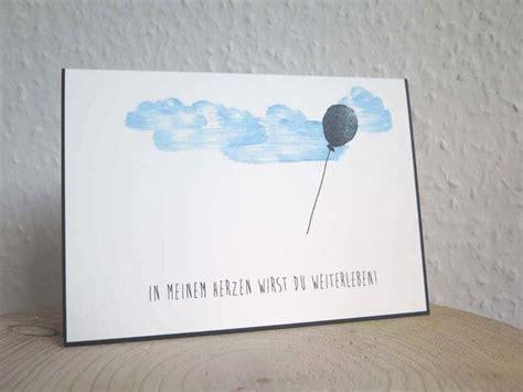 Beschriftung Trauerkarte Umschlag by Schlichte Trauerkarte Ballon In Meinem Herzen Wirst Du
