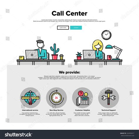 One Page Web Design Template Thin Stock Vector 324050417 Shutterstock Web Service Specification Template