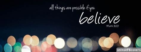 believe cover all things are possible if you believe covers