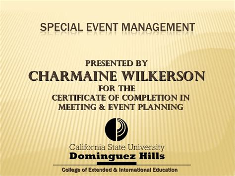 special event management