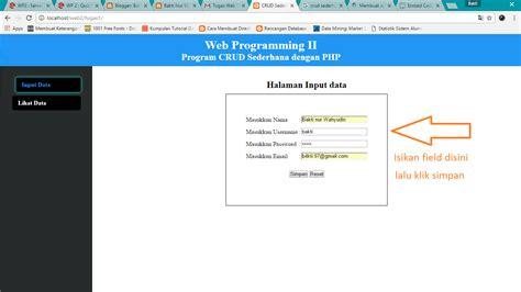 membuat kuesioner dengan php dan mysql bakti nur wahyudin membuat crud sederhana dengan php dan