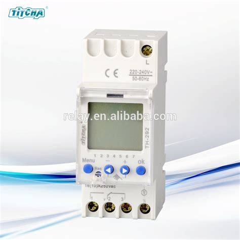 th 292 electric digital timer switch din rail 220v