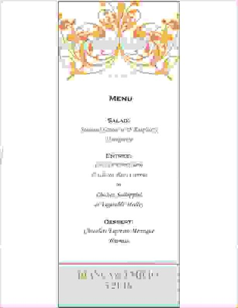 fancy dinner menu template fancy restaurant menu templates