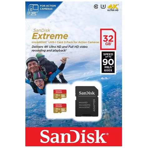 Terlaris Microsd Sdcard Mmc Sandisk Microsdhc 32gb Up To sandisk 32gb micro sd sdhc tf memory card 2 pack adapter 90mbs class 10