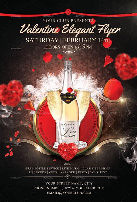 valentine elegant flyer template 4x6 0 25 bleed 300