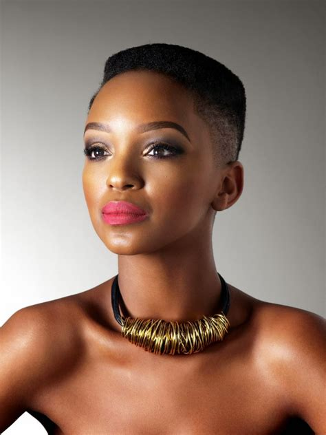 south africal celebrities with african hair south african ladies hair cuts nandi mngoma in short hair