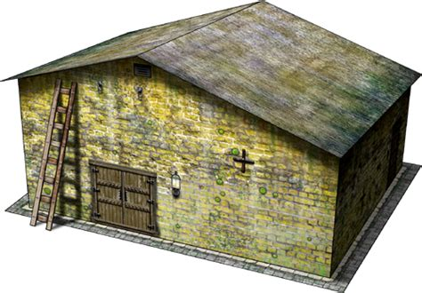 store house storehouse paper model dave s games