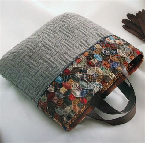 Handmade Quilted Bags - bag by yoko saito photo from book daily quilt for
