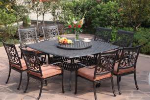 Outdoor Table Ls For Patio Darlee St 10 Cast Aluminum Patio Dining Set Patio Table