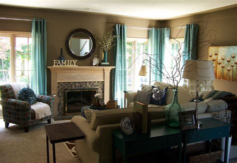 family room decorating  gray  teal  teal