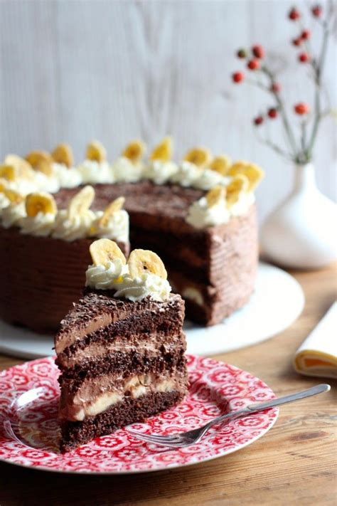 banane sahne kuchen 1000 ideas about schoko bananen torte on