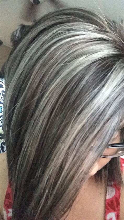 how to color gray hair with low lights silver gray and ash brown hair color silver hair gray hair