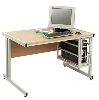 Secure Computer Desk Security Computer Desk With Lockable Tower Cage