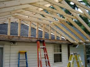 Porch Awnings For Mobile Homes Finished Framing The Roof