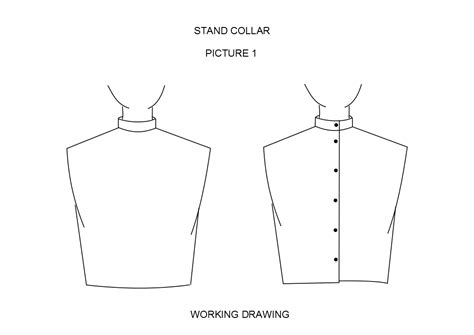 pattern stand up collar design details the pattern cutting place