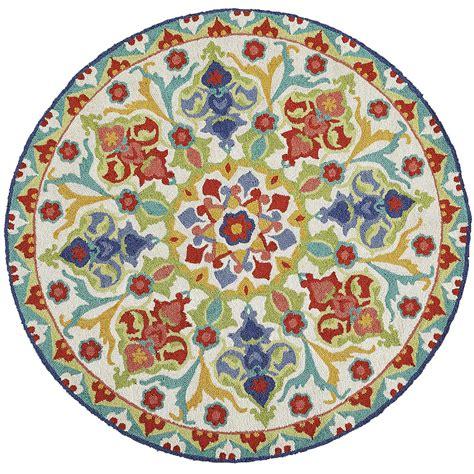 pier one round nalini round floral round rug pier 1 imports