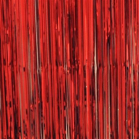 tinsel curtains curtain tinsel foil 90 x 200cm red pk1 tinsel werks