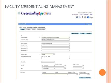 An Automated Credentialing Activities Management Tool Credentialing Contract Template