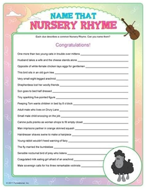 Nursery Rhymes Baby Shower by Nursery Rhyme Baby Shower