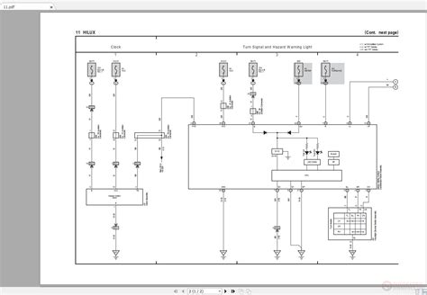 toyota hilux   electrical wiring diagram auto