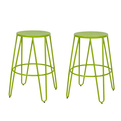 bar stools for 44 inch counter adeco green 26 inch metal counter stools set of two
