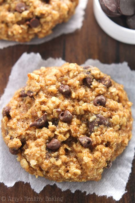 healthy cookies chocolate chip banana bread oatmeal cookies s