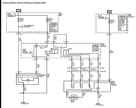 1997 suburban blower motor wire schematic free