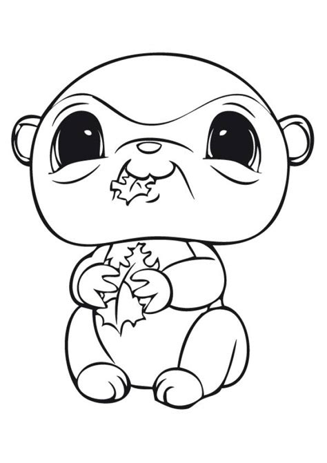 cute lps coloring pages get this cute printable coloring pages of littlest pet