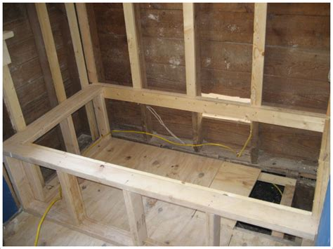 framing for a bathtub spa tub install green button homes