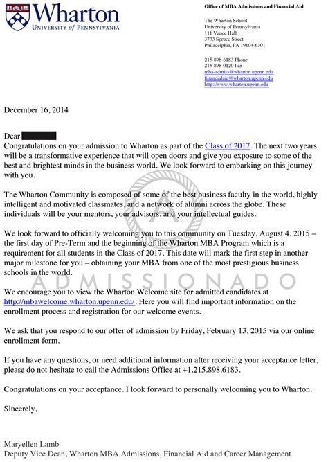 Bentley Acceptance Letter Offer Letters Admissionado