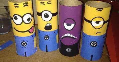 Minion Toilet Paper Roll Craft - diy minion toilet paper roll craft diy