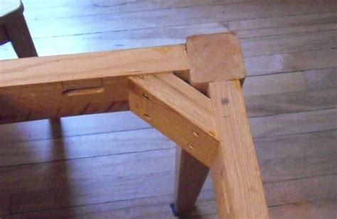 How To Put Legs On A Table attaching table legs with a dowel jig