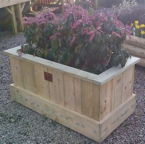 Patio Planters Uk by Garden Planters The Wooden Workshop Oakford