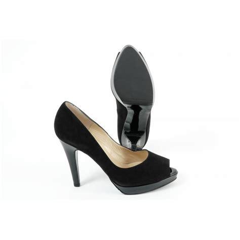 black high heel evening shoes kaiser patu high heel evening shoes in black peep