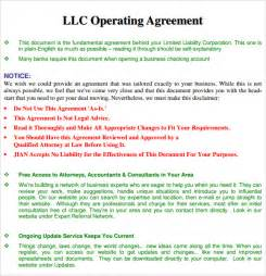sample operating agreement 9 examples format