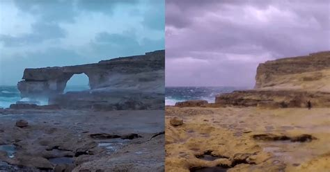 azure window before and after i may have captured the last shots of the azure window