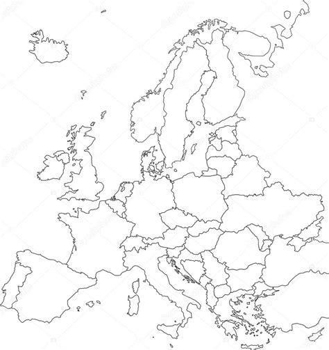 blind map of europe blinde europakarte stockvektor 169 delpieroo 51647375