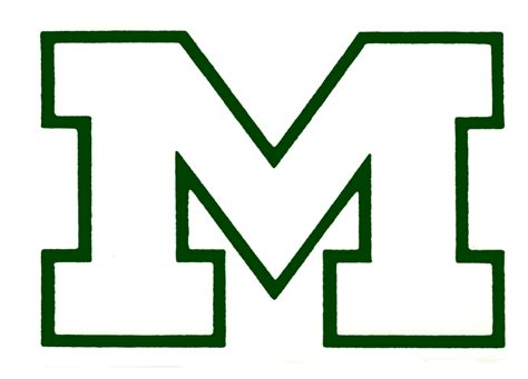 Block M Outline by School Logos Mansfield High School