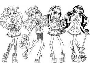 coloring pages for monster high dolls gallery